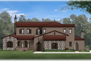 Dream House Plan - Mediterranean Exterior - Front Elevation Plan #1058-85