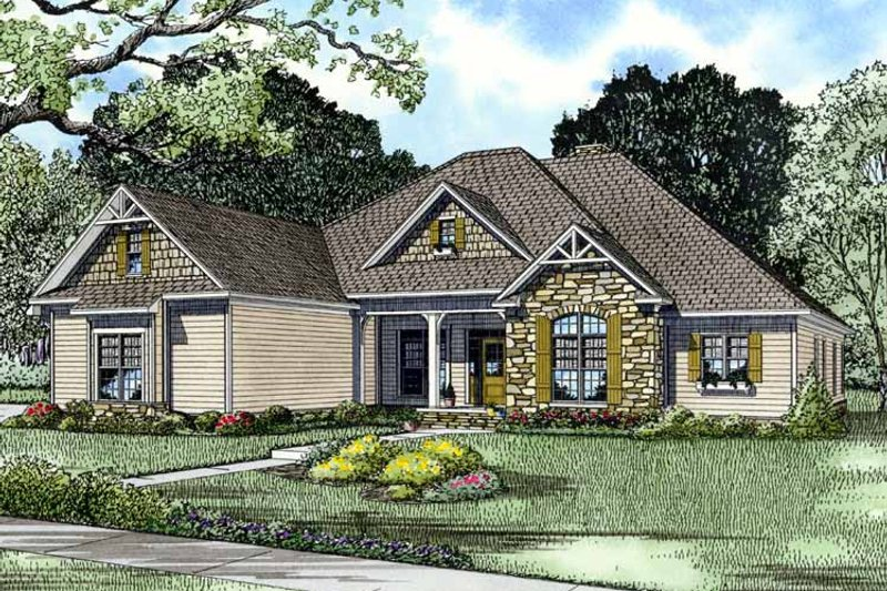 Country Exterior - Front Elevation Plan #17-2717 - Houseplans.com