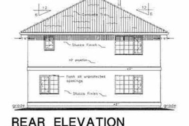 European Exterior - Rear Elevation Plan #18-218 - Houseplans.com