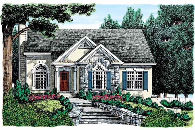 Country Exterior - Front Elevation Plan #927-149