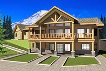 House Plan Design - European Exterior - Front Elevation Plan #117-820