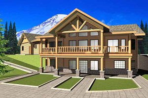 Dream House Plan - European Exterior - Front Elevation Plan #117-820