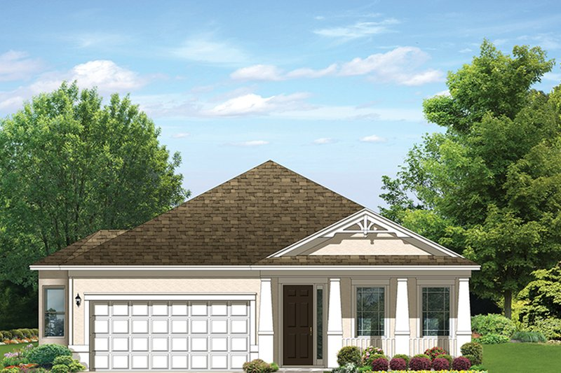 Ranch Exterior - Front Elevation Plan #1058-110