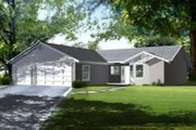 Colonial Style House Plan - 3 Beds 2 Baths 1804 Sq/Ft Plan #1-1356 Exterior - Front Elevation