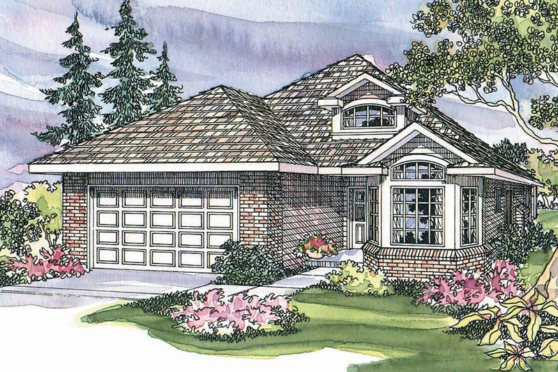Traditional Exterior - Front Elevation Plan #124-335