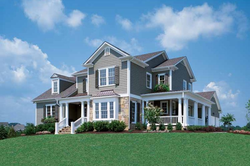 Country Exterior - Front Elevation Plan #429-258 - Houseplans.com