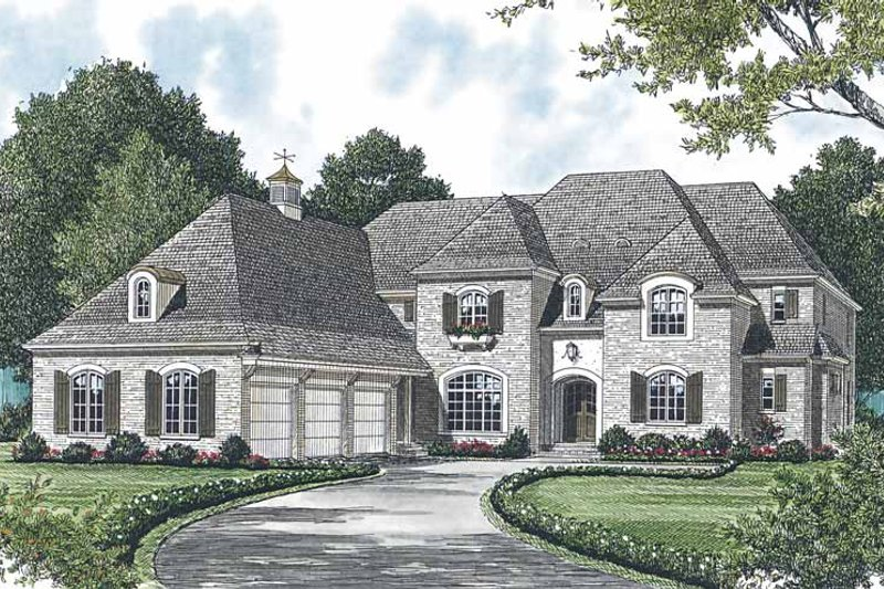 Traditional Exterior - Front Elevation Plan #453-589 - Houseplans.com