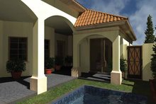 Mediterranean Exterior - Rear Elevation Plan #930-433