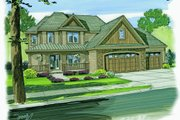Craftsman Style House Plan - 4 Beds 2.5 Baths 2177 Sq/Ft Plan #455-74 Exterior - Other Elevation