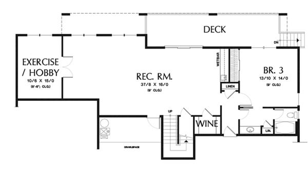 Home Plan - Traditional Floor Plan - Lower Floor Plan #48-915