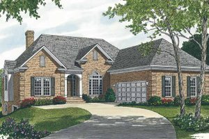 House Plan Design - Traditional Exterior - Front Elevation Plan #453-497