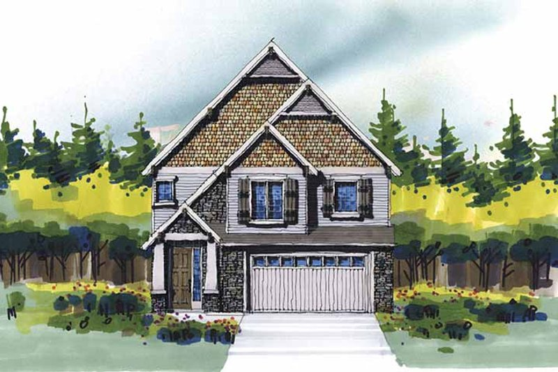 Craftsman Exterior - Front Elevation Plan #509-315