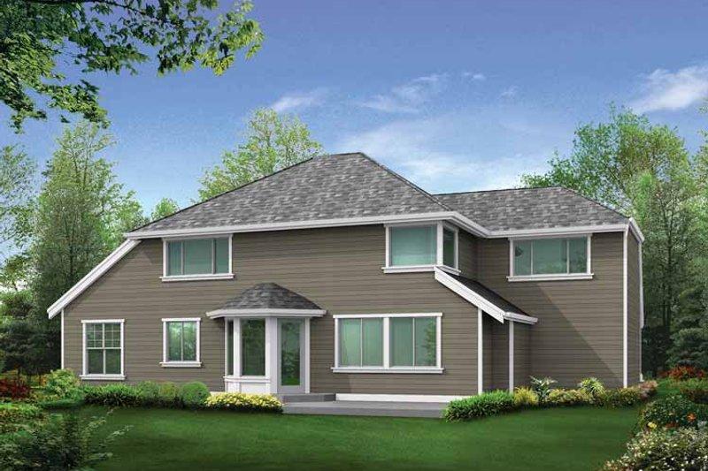 Craftsman Exterior - Rear Elevation Plan #132-301 - Houseplans.com