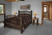 Dream House Plan - Log Interior - Master Bedroom Plan #928-263