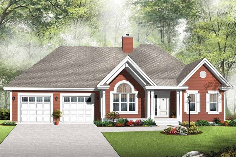 Architectural House Design - Country Exterior - Front Elevation Plan #23-2533