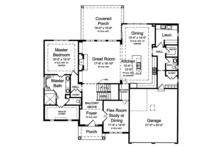 Traditional Floor Plan - Main Floor Plan Plan #46-861