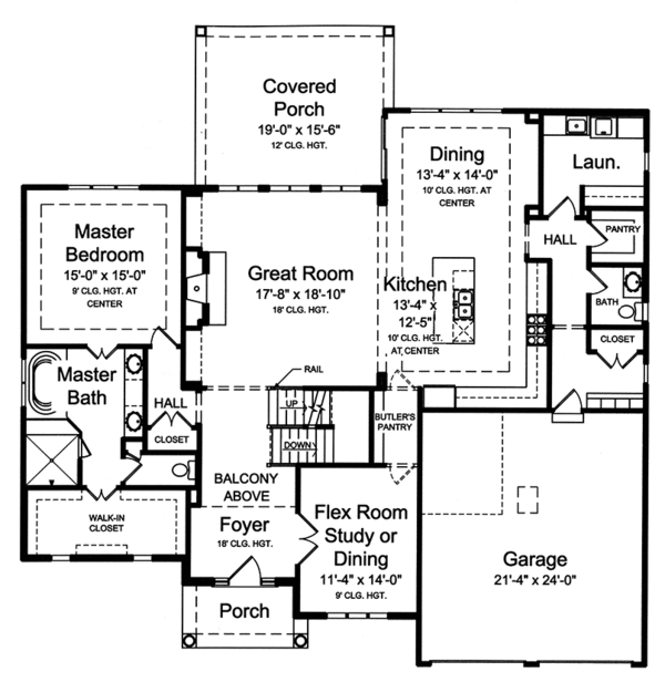 Traditional Floor Plan - Main Floor Plan Plan #46-861