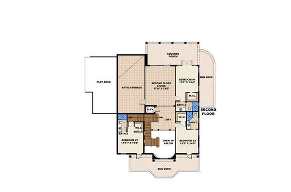 Beach Floor Plan - Other Floor Plan #27-480