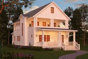 Craftsman Style House Plan - 3 Beds 3 Baths 2206 Sq/Ft Plan #888-10 Exterior - Rear Elevation