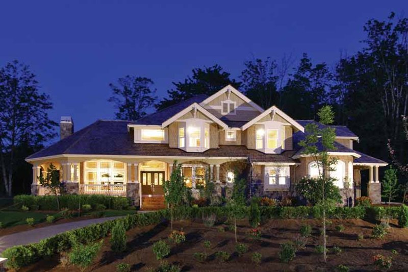 Craftsman Exterior - Front Elevation Plan #132-241