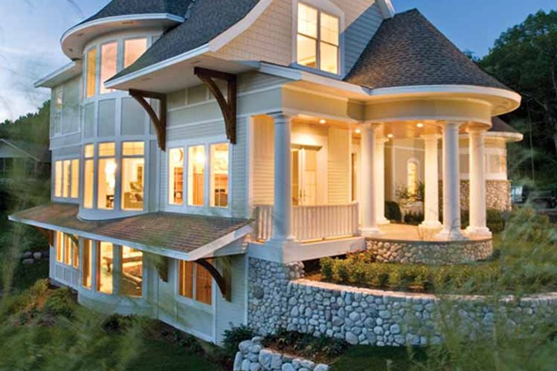 Victorian Exterior - Rear Elevation Plan #56-694 - Houseplans.com