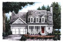 Classical Exterior - Front Elevation Plan #927-795