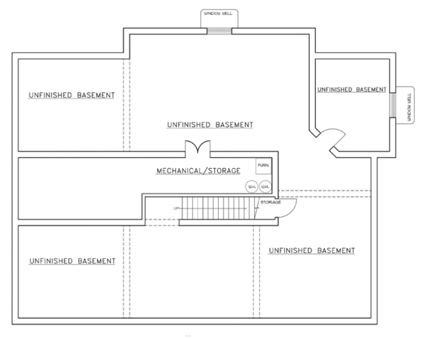 Contemporary Floor Plan - Lower Floor Plan #117-853