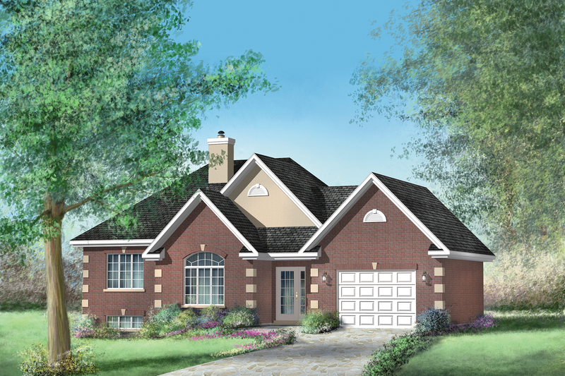 European Style House Plan - 3 Beds 1 Baths 1172 Sq/Ft Plan #25-4648 Exterior - Front Elevation
