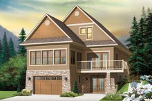 Country Exterior - Front Elevation Plan #23-2495
