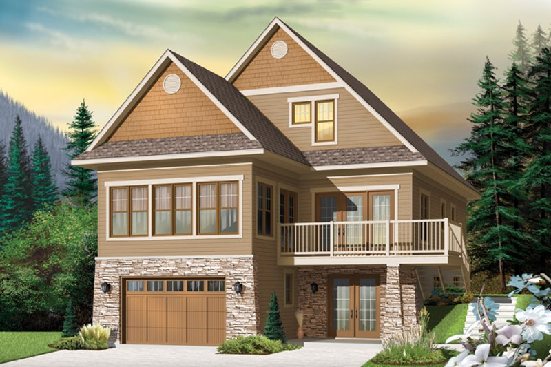Country Exterior - Front Elevation Plan #23-2495 - Houseplans.com
