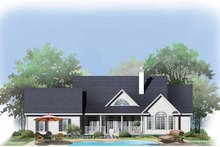 Country Exterior - Rear Elevation Plan #929-793