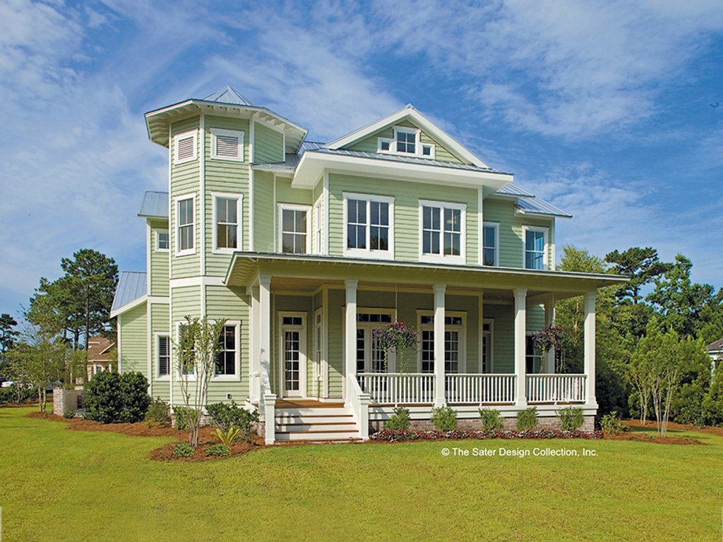 The Sater Design Collection country style house plan - 6 beds 4.5 baths 3814 sq/ft plan #930-358