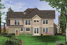 House Plan Design - Craftsman Exterior - Rear Elevation Plan #48-611