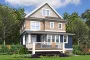 Craftsman Style House Plan - 4 Beds 3.5 Baths 2543 Sq/Ft Plan #48-678 Exterior - Rear Elevation