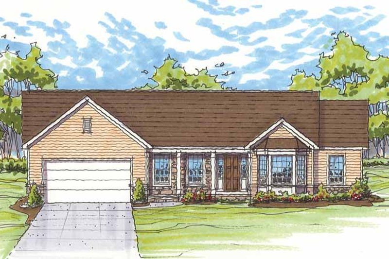 House Plan Design - Traditional Exterior - Front Elevation Plan #435-12