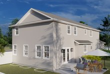 Dream House Plan - Traditional Exterior - Rear Elevation Plan #1060-32