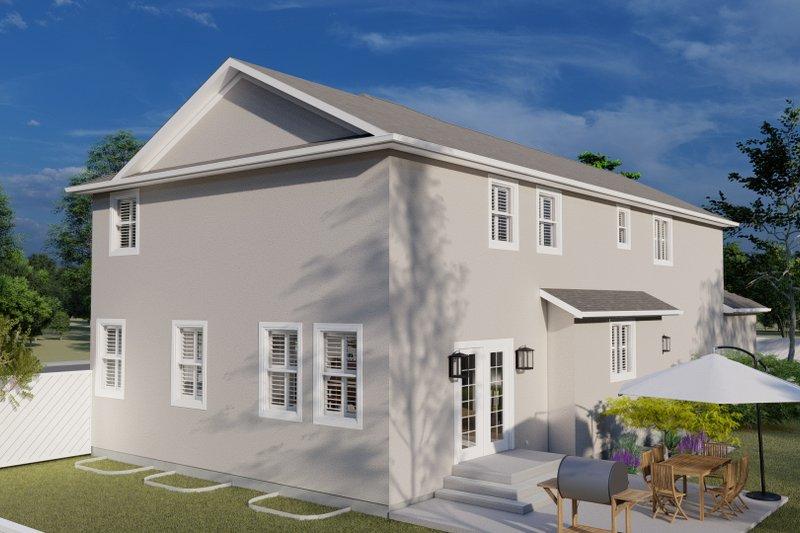 House Plan Design - Traditional Exterior - Rear Elevation Plan #1060-32
