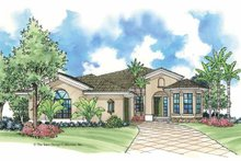 Mediterranean Exterior - Front Elevation Plan #930-384