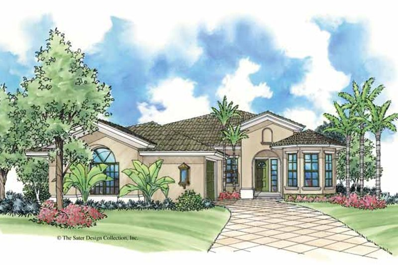 House Plan Design - Mediterranean Exterior - Front Elevation Plan #930-384