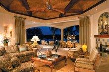 Mediterranean Interior - Family Room Plan #930-330