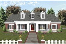 Dream House Plan - Traditional Exterior - Front Elevation Plan #56-693