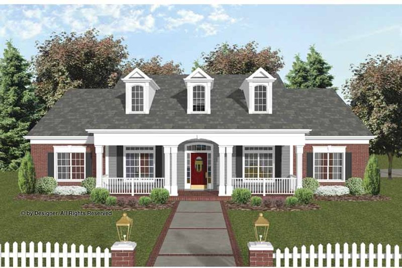 Traditional Exterior - Front Elevation Plan #56-693 - Houseplans.com