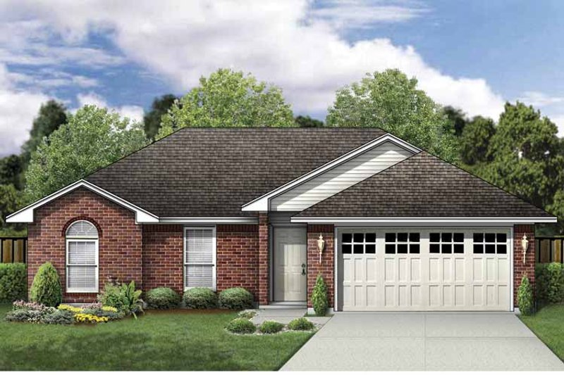Traditional Exterior - Front Elevation Plan #84-744 - Houseplans.com