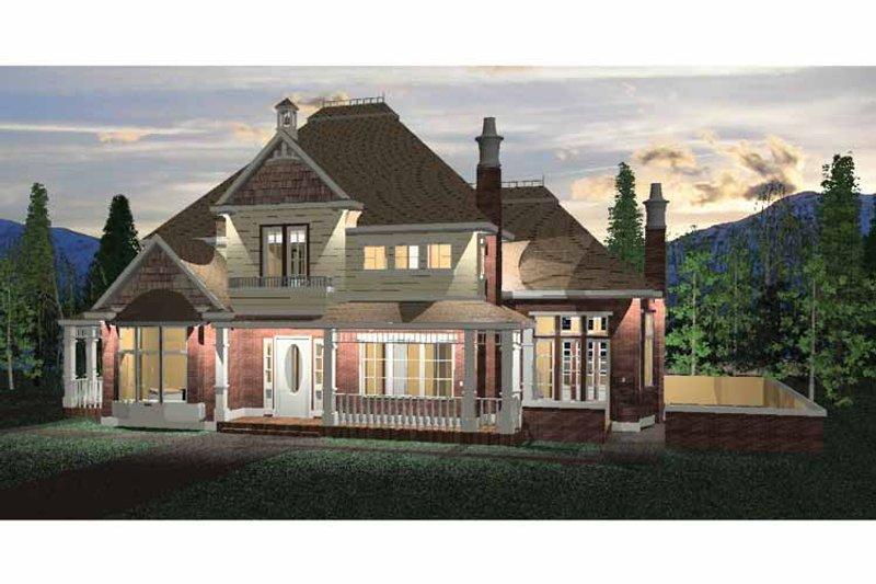 Victorian Exterior - Front Elevation Plan #937-24