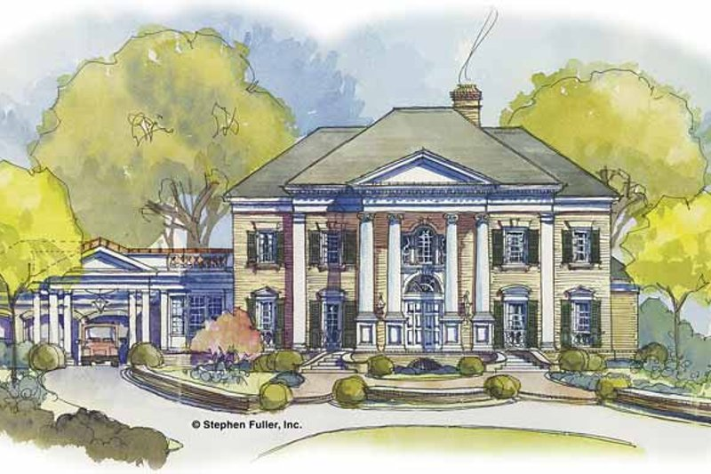 Classical Exterior - Front Elevation Plan #429-438