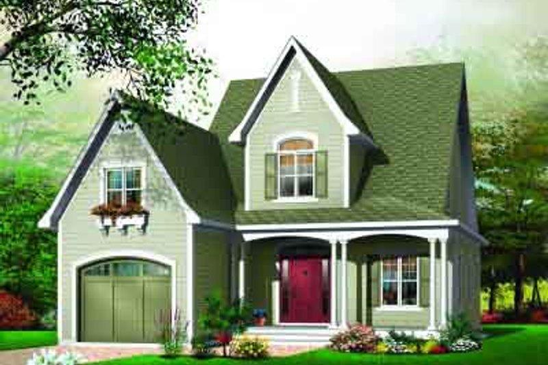 Home Plan - European Exterior - Front Elevation Plan #23-542