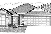 Traditional Style House Plan - 3 Beds 2 Baths 1228 Sq/Ft Plan #65-344 Exterior - Front Elevation