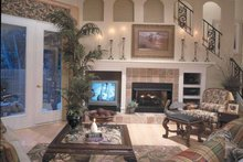 House Design - Mediterranean Interior - Family Room Plan #417-747