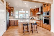 Prairie Style House Plan - 4 Beds 4 Baths 3742 Sq/Ft Plan #1042-17 Interior - Kitchen