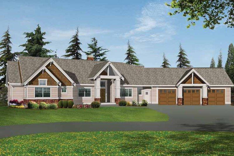 Craftsman Exterior - Front Elevation Plan #132-338